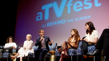 Panel on stage at SCAD annual ATVfest