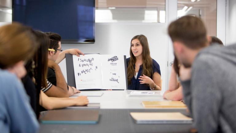 Graphic design classroom