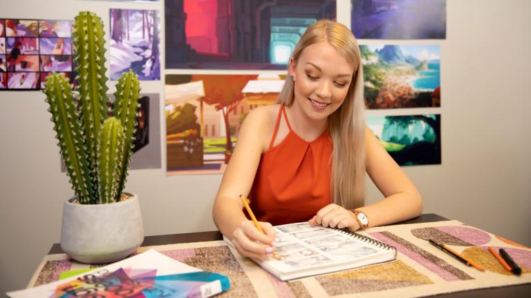 Animation alumna Shannon Hallstein
