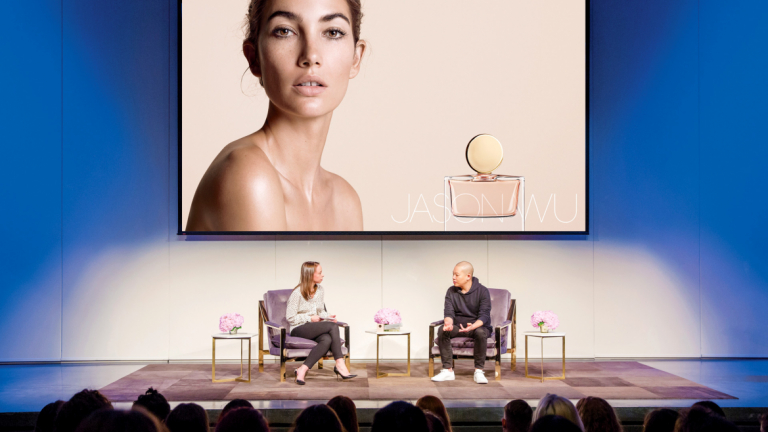 Jason Wu sharing insights with a packed audience at the annual SCADstyle event.