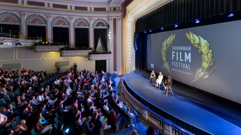 SCAD students participating in Savannah Film Festival event