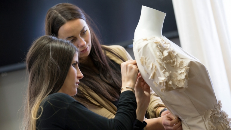 Fashion marketing and merchandising dressing mannequin