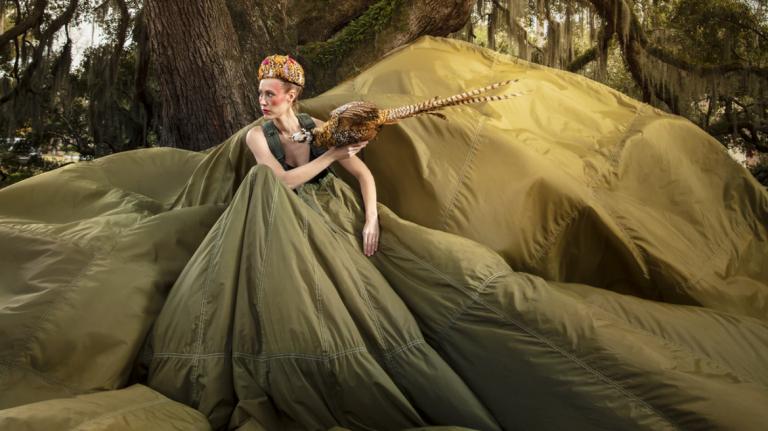 SCAD fashion alumna Caroline Mae Heidenreich work inspired by vintage materials like parachutes