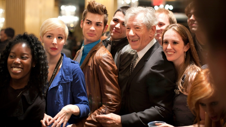 Actor Ian McKellen meeting SCAD students at Savannah Film Festival
