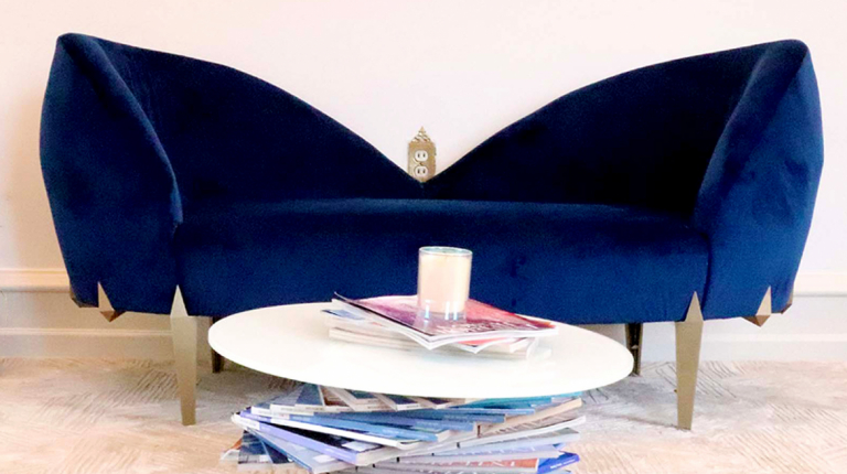 "Furniture design student Erin Tutcher's ""Ella"" fainting couch"