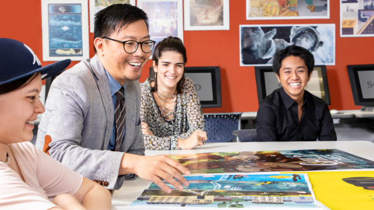 SCAD illustration professor in classroom with students
