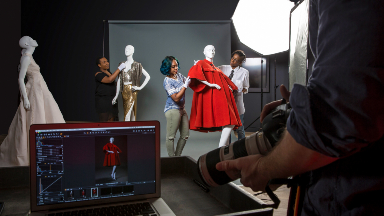 Photography students on a shoot in SCAD Atlanta