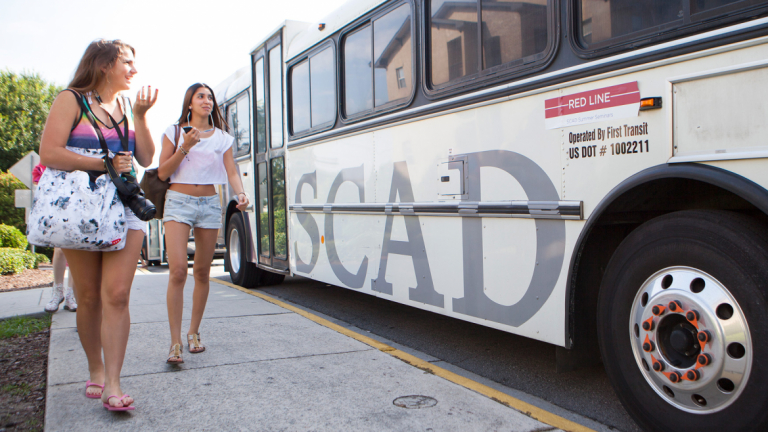 Rising Star students getting on bus