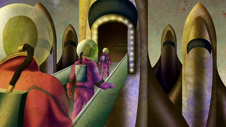 Work by illustration student Jose Sanchez
