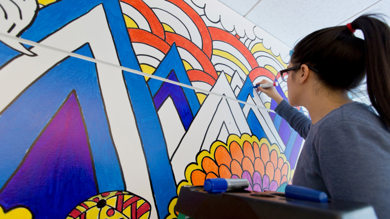 sharpie branded murals scad edu sprawling nature inspired mural drawn entirely with a