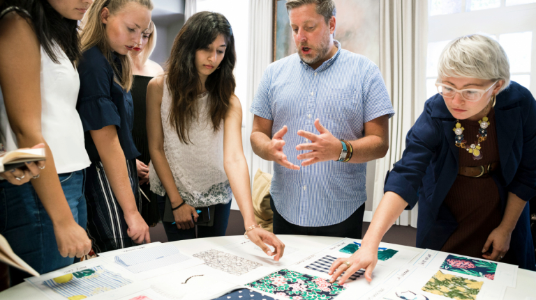 Students participate in a kick off for the SCADpro and Draper James collaboration