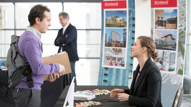 Employer booth at SCAD Career Fair