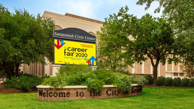 Savannah Civic Center for SCAD Career Fair 2020