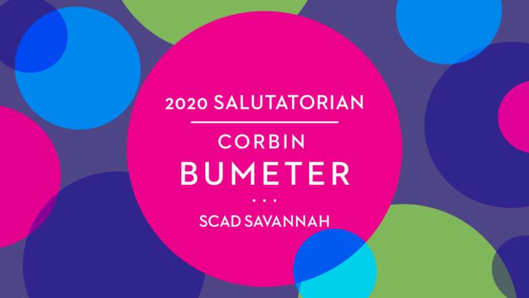 Play video of salutatorian Corbin Bumeter