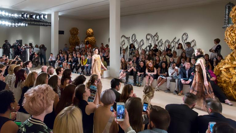 Models walking runway at SCAD Fashion Show