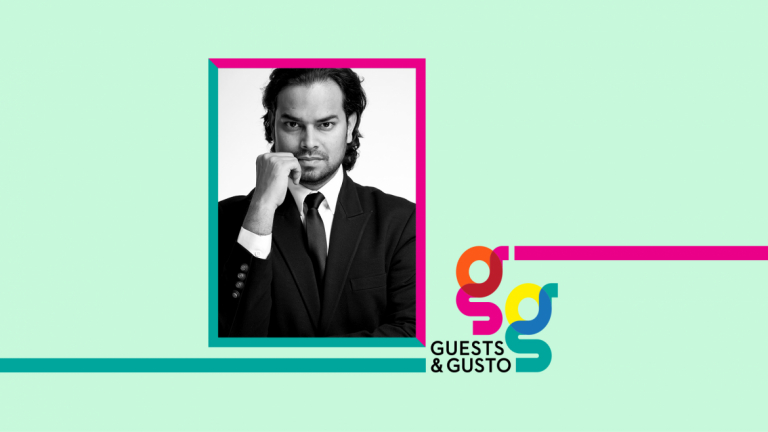 Guests and Gusto speaker Rahul Mishra