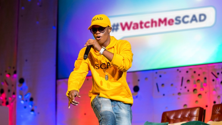 "Silentó performs ""Watch Me (whip/nae nae)"" during SCAD's Fall 2015 Orientation in Savannah"
