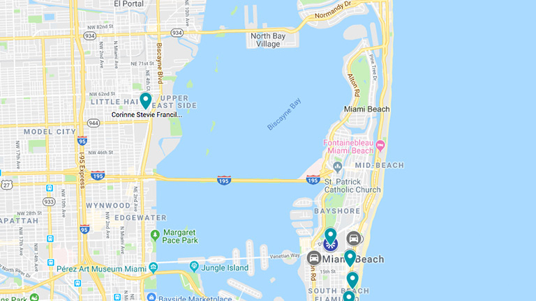 SCAD at Miami map