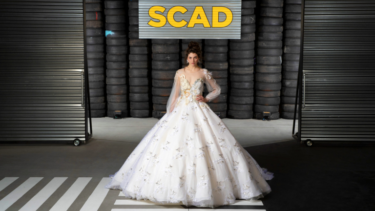 Bridal gown walks the runway at the 2019 Fashion Show