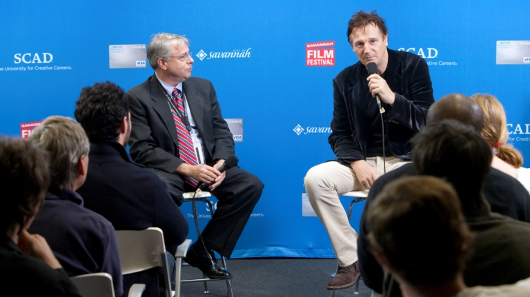 Liam Neeson leading master class for SCAD students at Savannah Film Festival