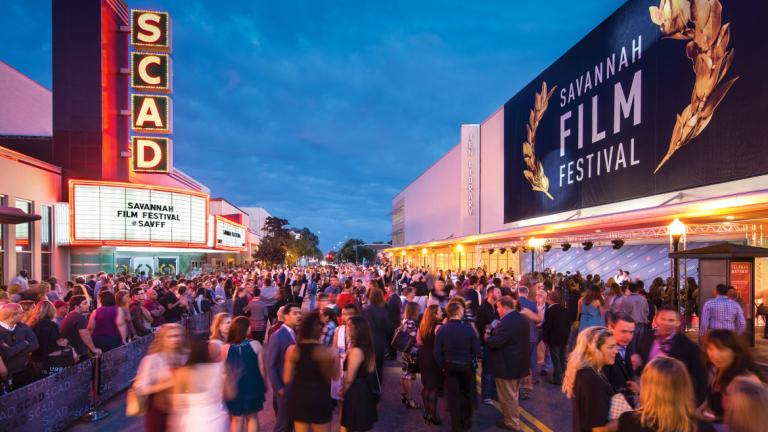 Street party at 2015 Savannah Film Festival