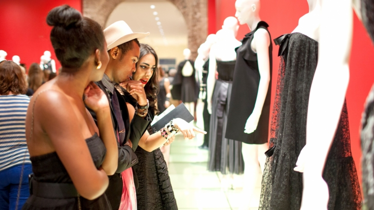 SCAD students attending Little Black Dress exhibition