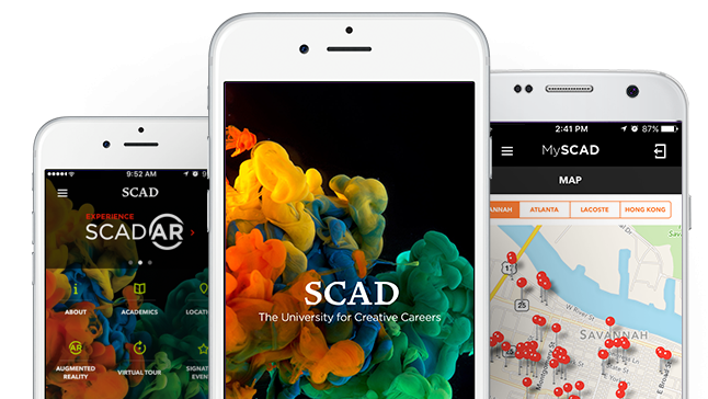 SCAD app on various mobile devices
