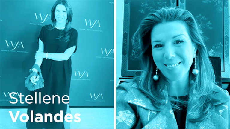 Portrait photos of Stellene Volandes on the red carpet and at home.