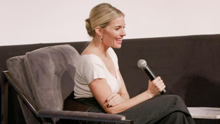 Play video of Sienna Miller at SCAD Savannah Film Festival