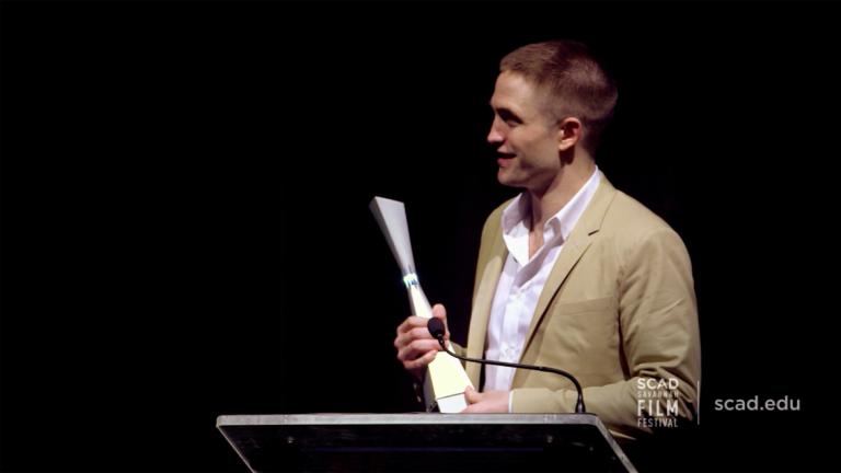 Play video of SCAD Savannah Film Festival honoree Robert Pattinson
