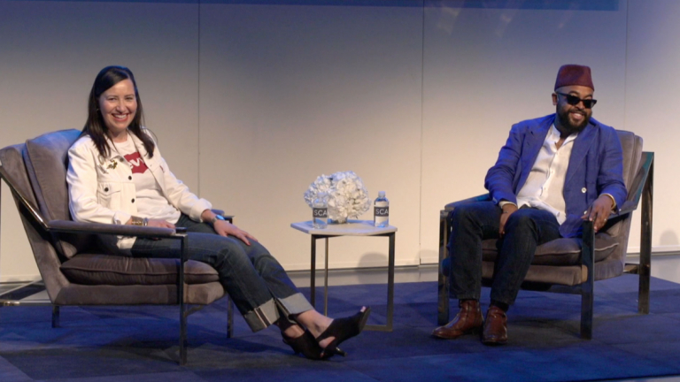 Tracey Panek in conversation with Mobolaji Dawodu at SCADstyle 2019