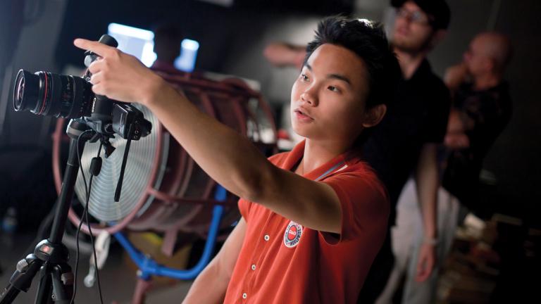 SCAD photography alumnus directing photo shoot