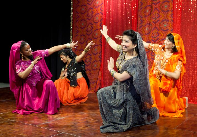 SCAD students dancing at Diwali Festival