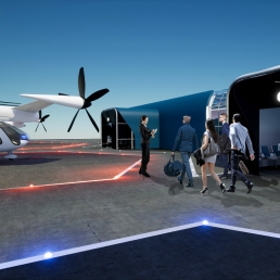 Rendering of a SkyPort created by SCAD students through SCADpro for Uber