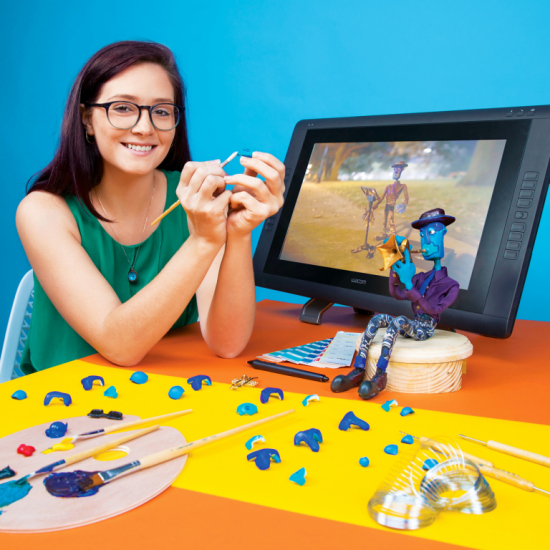 SCAD student working on animation project