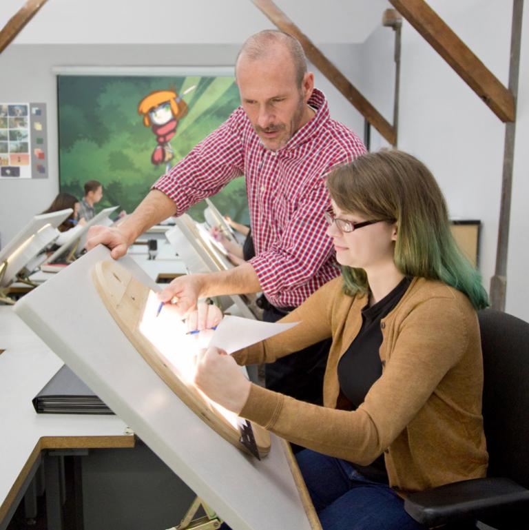 Animation classroom