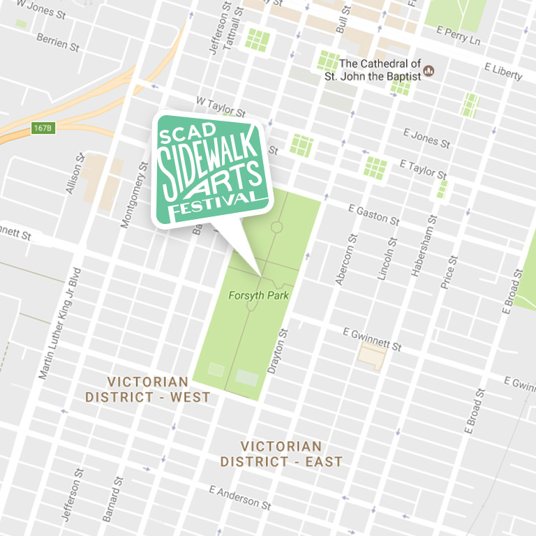 Sidewalk Arts Festival 2017 Google Map