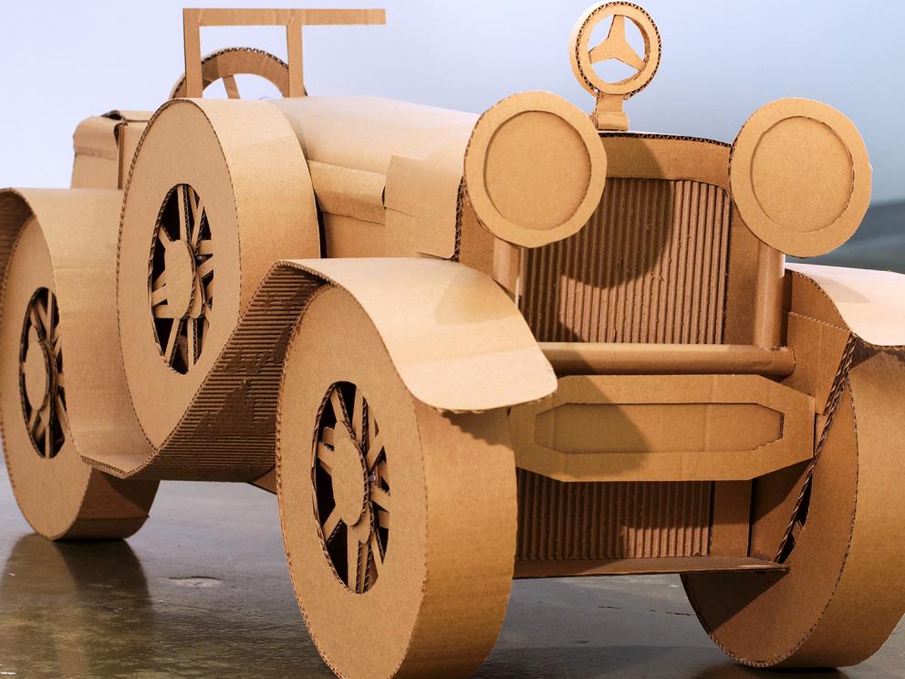 Cardboard Mercedes