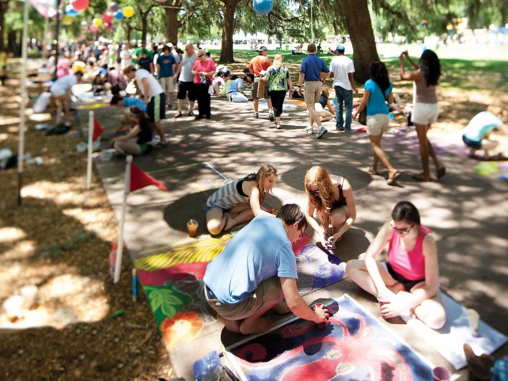 SCAD Sidewalk Arts Festival in Savannah