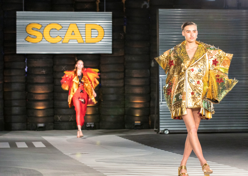 "Fashion student collection ""Wildcard"" on the 2019 Fashion Show runway"