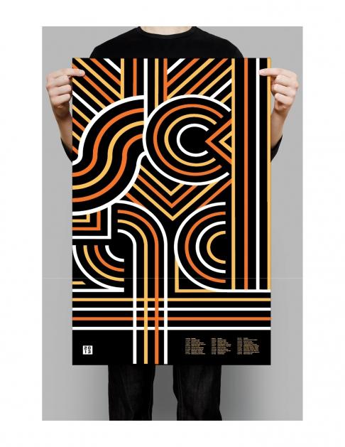 Graphic design student work, Academic Calendar by Jessica Leavitt