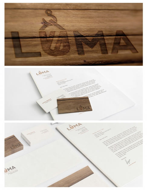 Graphic design student work, Luma by Veronica Silva