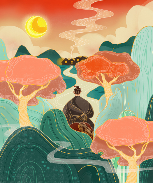 Illustration student work by Yuwei Liu