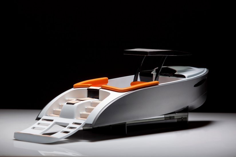 Industrial design student work, Luxury Yacht Tender by John Gray Paraker
