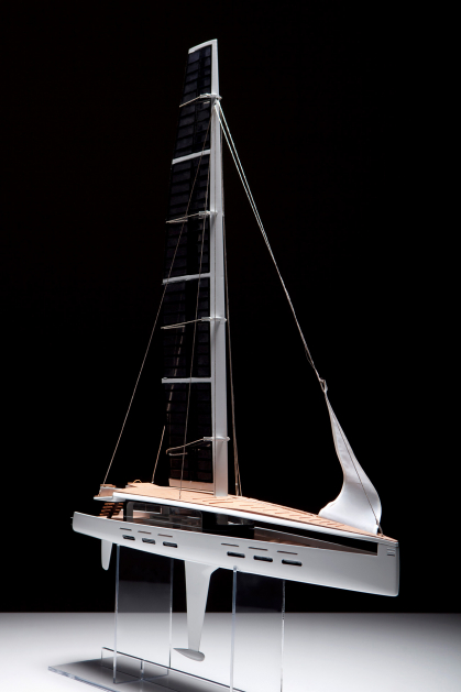 Industrial design student work, Luxury Sailing Yacht by Sebastian Campos Moller