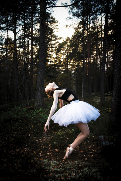 """Dancing in the Woods"" by photography student Christianne Ebel"