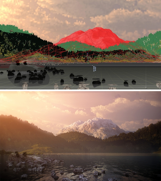 Visual effects, Ziye Liu, Vue, Wireframe