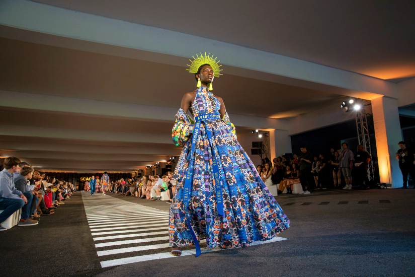 Fashion student Brandon Zayden Skipper's collection walks the 2019 runway at SCAD Fashion Show