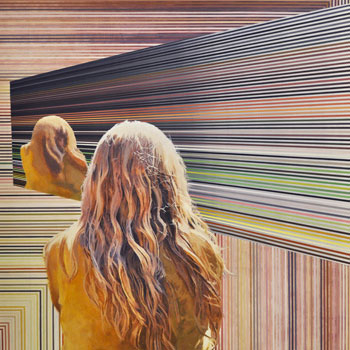 """Lance Turner, """"The Treachery of Images, A Portrait of the Viewer in a Holographic Multiverse,"""" 2013."""