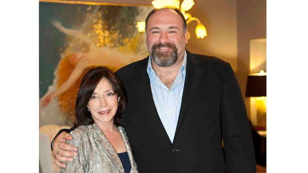 Paula Wallace with James Gandolfini at the 2012 Savannah Film Festival